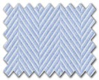 100% Cotton Light Blue Herringbone