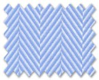 100% Cotton Blue Herringbone