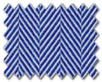 100% Cotton Dark Blue Herringbone