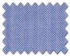 100% Cotton Blue Herringbone