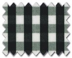 100% Cotton Black Gingham Check