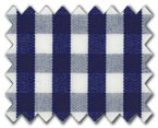 100% Cotton Navy Gingham Check