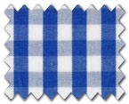 100% Cotton Blue Gingham Check