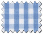 100% Cotton Light Blue Gingham Check
