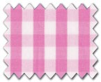 100% Cotton Pink Gingham Check