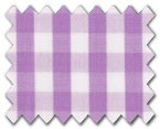 100% Cotton Purple Gingham Check