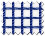 100% Cotton Dark Blue Check