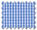 100% Cotton Light Blue Check