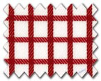 100% Cotton Red Check
