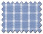 100% Cotton Light Blue Check