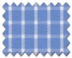 100% Cotton Blue Check