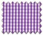 100% Cotton Purple Check