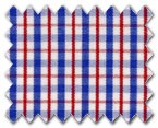 100% Cotton Red/Blue Check