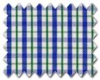 100% Cotton Green/Blue Check