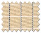 100% Cotton Beige/Dark Blue Check