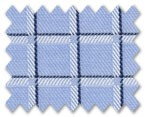 100% Cotton Blue/Navy Blue Check