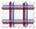 100% Cotton Blue/Red Check