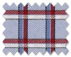 100% Cotton Light Blue/Blue/Red Check