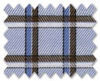 100% Cotton Light Blue/Blue/Brown Check