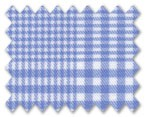 100% Cotton Blue Check