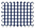 100% Cotton Dark Blue Check