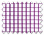 100% Cotton Purple Check