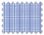 100% Cotton Blue/Dark Blue Check