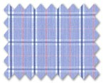 100% Cotton Blue/Pink Check