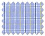 100% Cotton Blue/Yellow Check