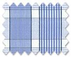 100% Cotton Light Blue/Navy Blue Check