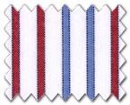 100% Cotton Red/Blue Stripe