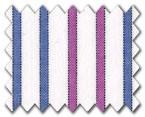 100% Cotton Purple/Blue Stripe