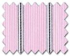 100% Cotton Pink/Dark Blue Stripe