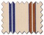 100% Cotton Beige/Brown/Blue Stripe