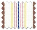 100% Cotton Pink/Yellow/Red/Dark Blue Stripe