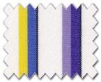 100% Cotton Purple/Yellow/Blue Stripe
