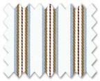 100% Cotton Maroon/Light Blue/Brown Stripe