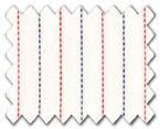 100% Cotton Red/Dark Blue Stripe