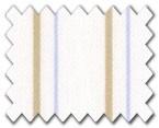 100% Cotton Beige/Light Blue Stripe