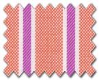 100% Cotton Orange/Pink Stripe