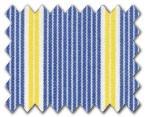 100% Cotton Blue/Yellow Stripe