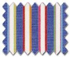 100% Cotton Dark Blue with Multi-Color Stripe