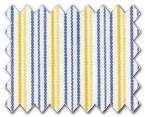 100% Cotton Yellow/Blue Stripe