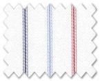 100% Cotton Light Blue/Red/Dark Blue Stripe