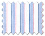 100% Cotton Blue/Red Stripe