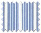 100% Cotton Blue Stripe