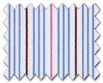 160's Superfine Cotton Blue/Pink/Red Stripe