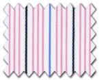 160's Superfine Cotton Pink/Blue/Navy Stripe