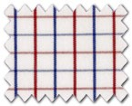 160's Superfine Cotton Red/Blue Check