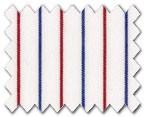 160's Superfine Cotton Red/Blue Stripe